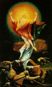 Matthias Grunewald's Resurrection, painted as an altarpiece at a monastic hospital in Isenheim, Alsace.